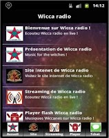 Screenshot of Wicca radio