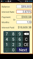Screenshot of Payoff Calculator