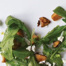 Arugula Salad with Sweet Potatoes and Feta