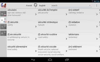 Screenshot of Free Dict French English