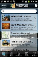 Screenshot of Adirondacks Guide