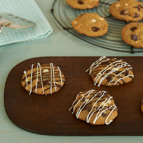 Zebra Chocolate Chip Cookies