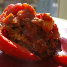 Greek-Style Stuffed Bell Peppers (Light)