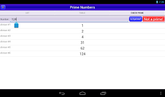 Screenshot of Prime Numbers