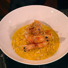 Saffron Risotto With Crispy Shrimps