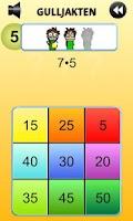 Screenshot of Gulljakten lille gangetabellen