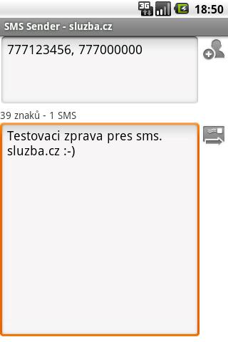 SMS Sender - sluzba.cz