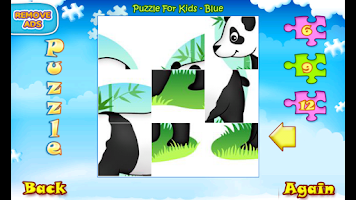 Screenshot of 123 Kids Fun™ PUZZLE BLUE Free
