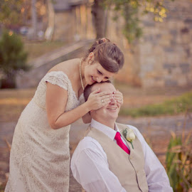 Eagerly waiting to see his bride for the first time! by Kristina Tench - Wedding Bride & Groom (  )