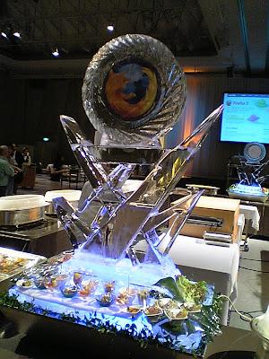 Firefox 3 リリースパーティー 氷のオブジェ