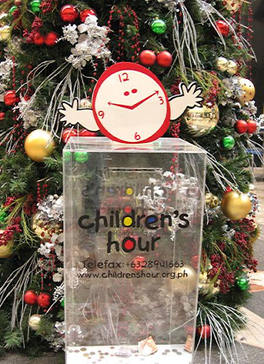 donation box for The Children's Hour