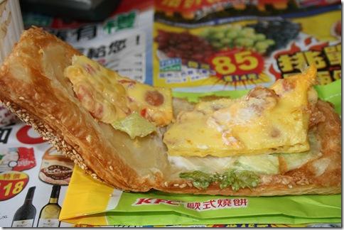 總匯歐姆蛋燒餅-內層歐姆蛋