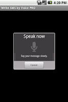 Screenshot of Write SMS by Voice PRO