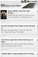 Screenshot of U2 360 News