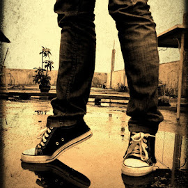 rainy days by Paul Anthony Bulao - People Body Parts ( shoes, all star, reflection, rainy day, vintage,  )