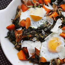 Baked Eggs With Butternut Squash and Kale