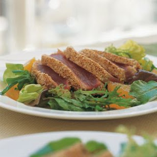 Sesame-Crusted Tuna with Greens