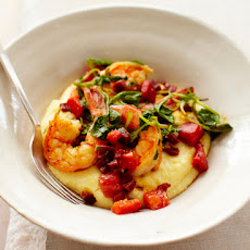 Adam Roberts' Shrimp & Polenta with Chorizo