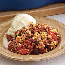 Rhubarb-and-Strawberry Crisp