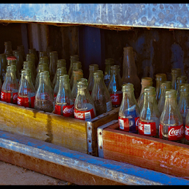 Old Bottles by Becky McGuire - Artistic Objects Glass ( cool, coca cola, mcguire, az, 50's, old, vintage, retro, pop, bottle, soda, coke, tvlgoddess, arizona, route 66, antique, becky,  )