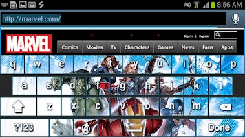 Screenshot of Avengers Keyboard Skins