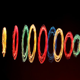 Playing with colors of Light by Noaman Siddiqui - Abstract Light Painting