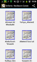 Screenshot of Childeren Reciters Quran