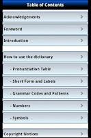 Screenshot of Longman Dictionary of English