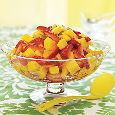 Lime-Scented Mango-Strawberry Salad