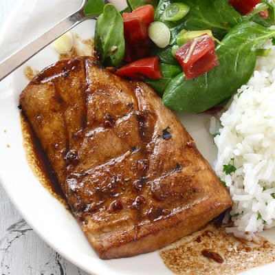Grilled Honey Ginger Glazed Mahi Mahi