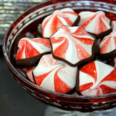 Chocolate-Dipped Peppermint Meringues