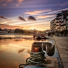 Cais da Ribeira do Douro by Paulo Roque - City,  Street & Park  Historic Districts ( 2014, ribeira do douro, sunset, paulo roque, portugal, porto )