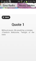 Screenshot of Emo Radio