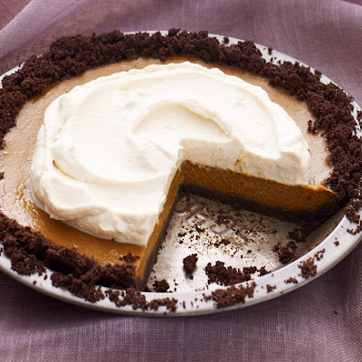 Pumpkin Pie with Caramel Whipped Cream