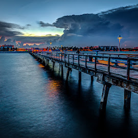 The Public Fishing Pier in Lauderdale-by-the-Sea by Matthew Haines - Buildings & Architecture Public & Historical ( , Lighting, moods, mood lighting, bridge, Urban, City, Lifestyle )