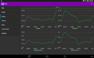 Screenshot of BMI calculator