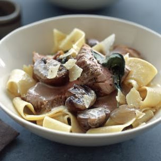 Roasted Pork Tenderloin with Pappardelle