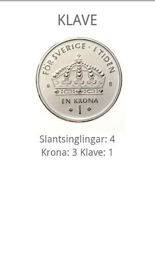 Singla slant Svensk enkrona