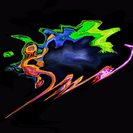 flying dinoseur by Asif Bora - Digital Art Abstract