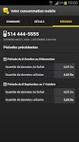 Screenshot of Mobile usage