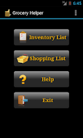 Screenshot of Grocery Helper - Lite
