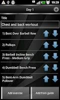 Screenshot of Gym Book: training notebook