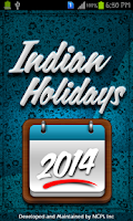 Screenshot of Indian Holidays List  2014