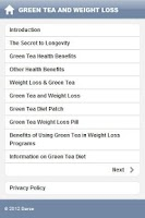 Screenshot of Green Tea and Weight Loss