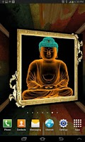 Screenshot of 3D Gautama Buddha LWP