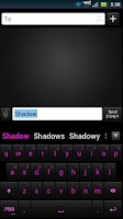 Screenshot of GO Keyboard Shadow Pink Theme