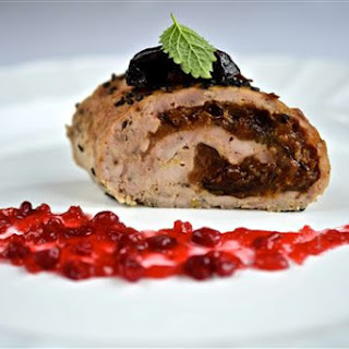 Chicken Roulade With Prunes, Ginger And Lingonberry Sauce