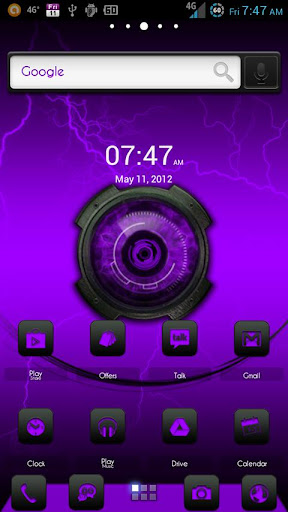 ADW Theme DigitalSoul Purple