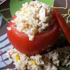 Quinoa and Raisin Salad Stuffed Tomatoes