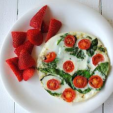 Tomato Mozzarella Egg White Omelet Recipe | Yummly